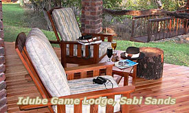 Deck at Idube Game Lodge, Sabi Sands
