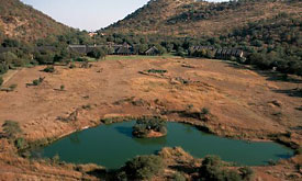 Bakubung Bush Lodge, Pilanesberg National Park, Aerial View