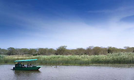 Boating at Phinda Forest Lodge, Zululand, South Africa